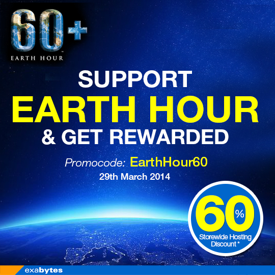 support earth hour & get rewarded