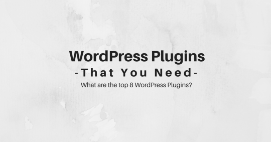WordPress Plugins that you need - what are the top 8 WordPress plugins?
