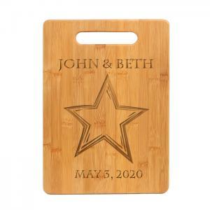 bamboo cutting board star