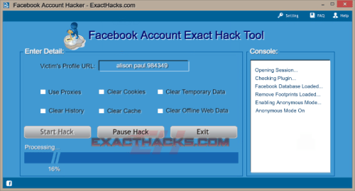 Facebook Account Password Hacker 2018