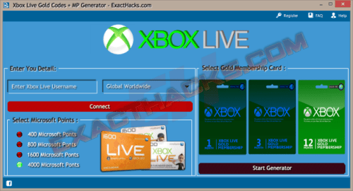 Codes Xbox Live Gold + MP Generator 2018