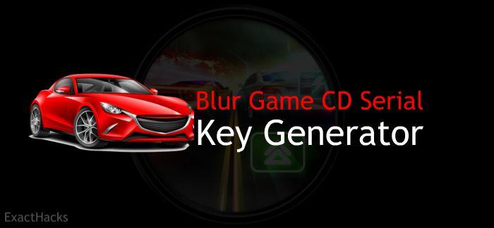 Blur Game CD Serial Key Generator