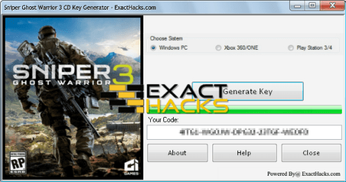 Sniper Ghost Warrior 3 CD Prìomh Generator