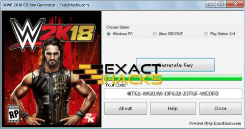WWE 2K18 CD afi Key