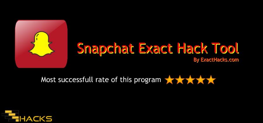 Snapchat המדויק Hack Tool 2018