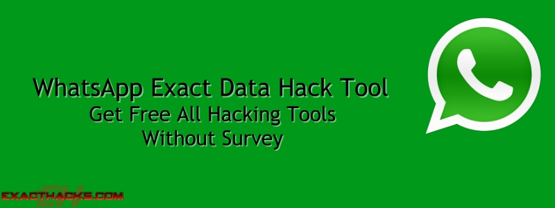 WhatsApp Exact data Hack Tool 2019
