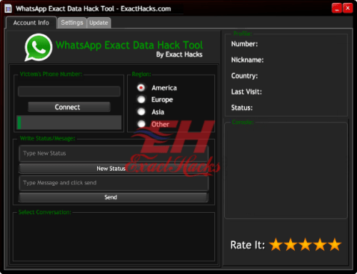 WhatsApp tepat Data Hack Tool 2018