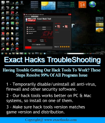 Eksaktong Hacks Troubleshooting