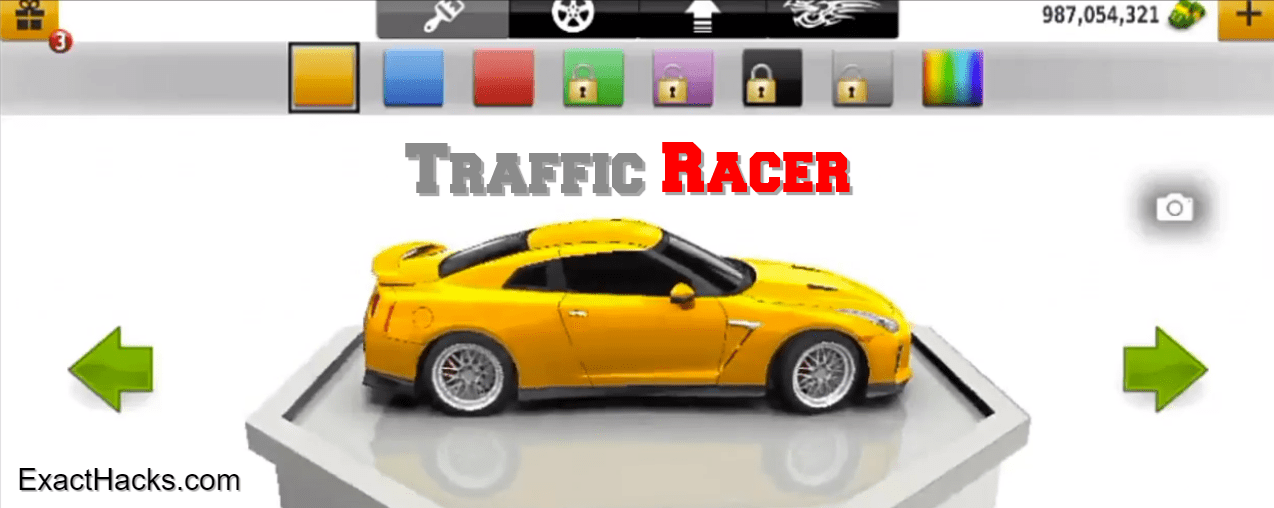Traffic Racer mod key java v3.35.0 se nang moeli Money