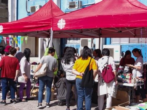 The Caritas mini-bazaar at St. Teresa's parish, Prince Edward Road, on November 17.