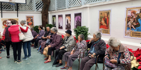 Parishioners at Our Lady of Perpetual Help, Tai O
