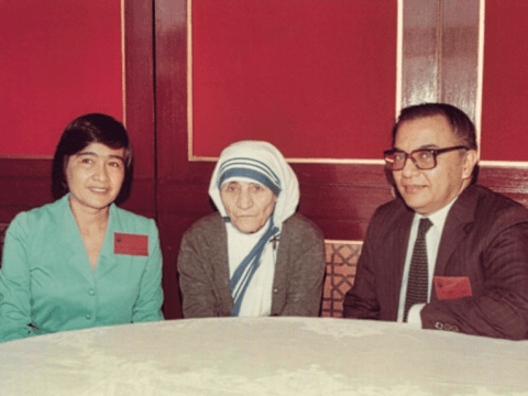 Ramon an Irene Ruiz with Mother Teresa. Photo: supplied