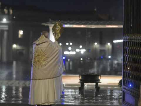 Pope Francis special Urbi et Orbi. Photo: Vatican Media