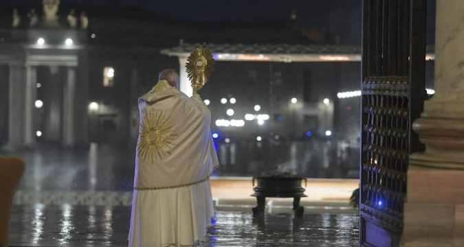 Pope Francis special Urbi et Orbi. Photo: Vatican Media
