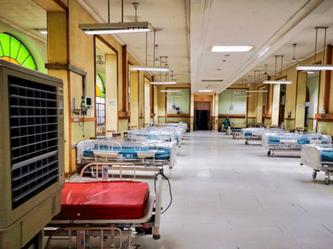 A ward at the Philippine General Hospital dedicated to COVID-19 patients. Photo: Public domain