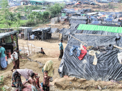 Rohingya refugees at the Balukhali camp in Cox's Bazar. Photo: UCAN/Stephan Uttom