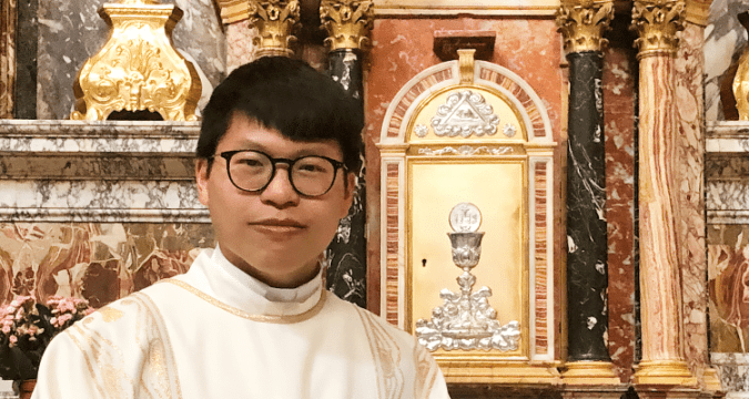Reverend Pun was ordained deacon in Rome in 2019.