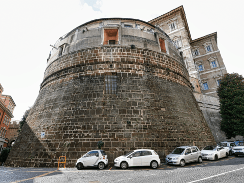 The tower of the Vatican bank. Photo: CNS