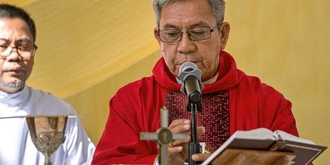 Bishop Bagaforo. Photo: Caritas Philippines