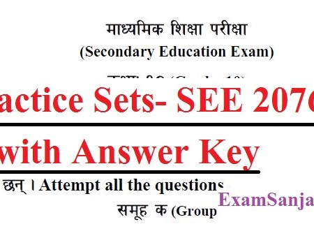 SEE Exam 2076 Model Questions Sets with Answer