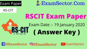 RSCIT Exam Paper 19 January 2020 ( Answer Key ) ,