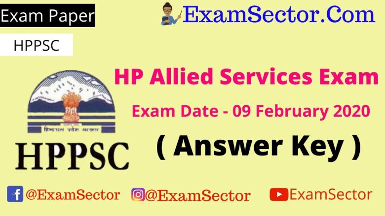 HP Allied Services Exam 9 Februrary 2020 With Answer