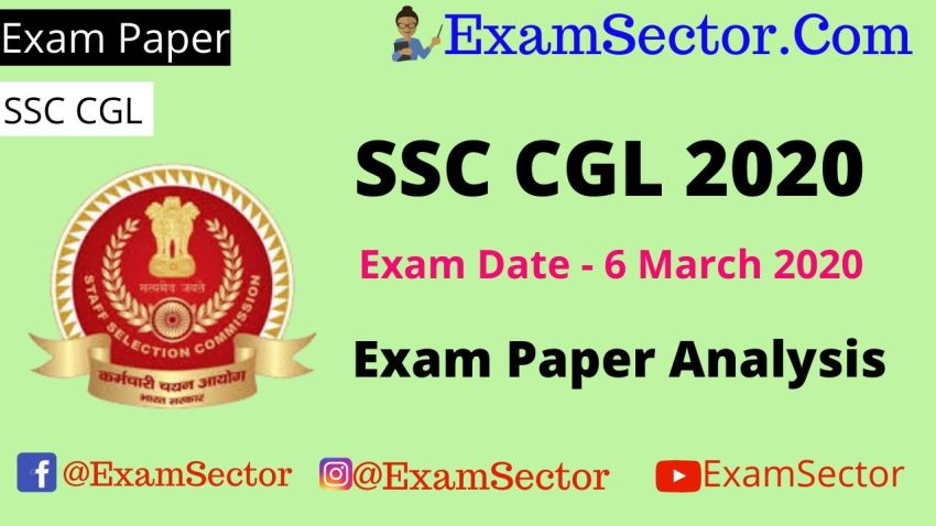 SSC CGL 6 March 2020 Exam Paper Analysis ,