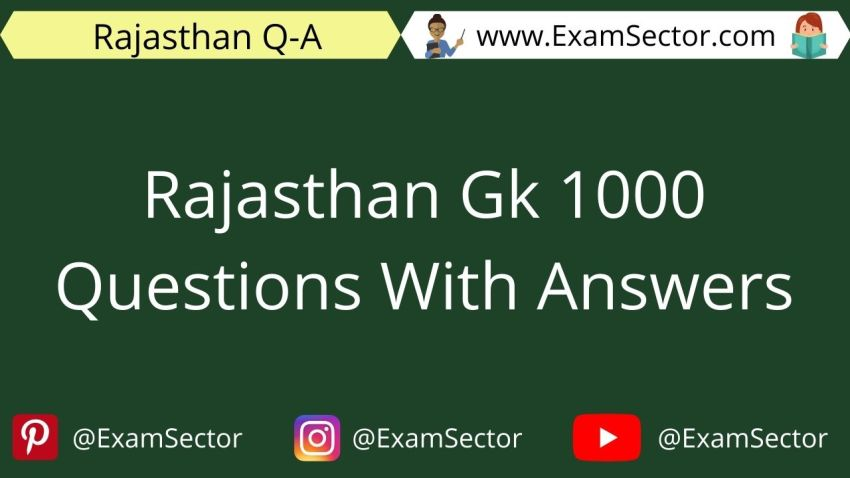 Rajasthan Gk 1000 Questions With Answers In Hindi