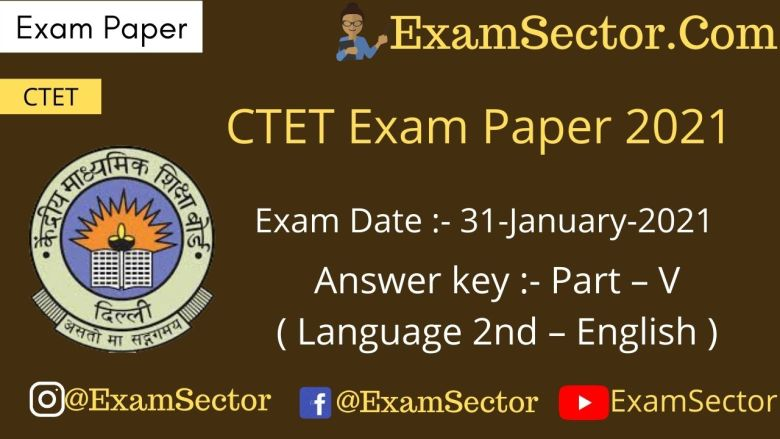 CTET 31 Jan 2021 Exam Paper I