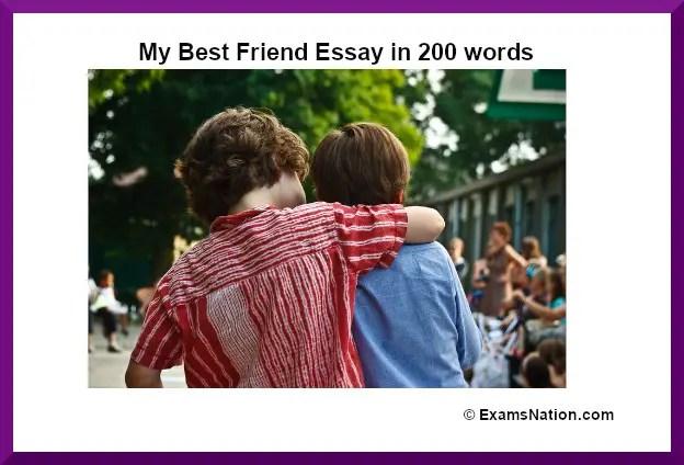 my best friend essay in 200 words