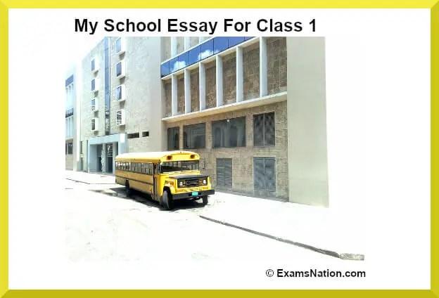 my school essay for class 1
