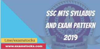ssc mts syllabus and exam pattern