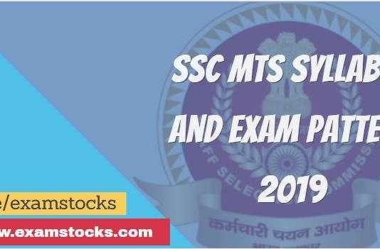 ssc mts syllabus and exam pattern