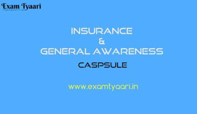 Insurance and General Awareness Basics Tonic [PDF] -  Exam Tyaari