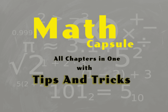Math Capsule : Topic Wise Tips and Tricks PDF for all Chapters [PDF Download] - Exam Tyaari