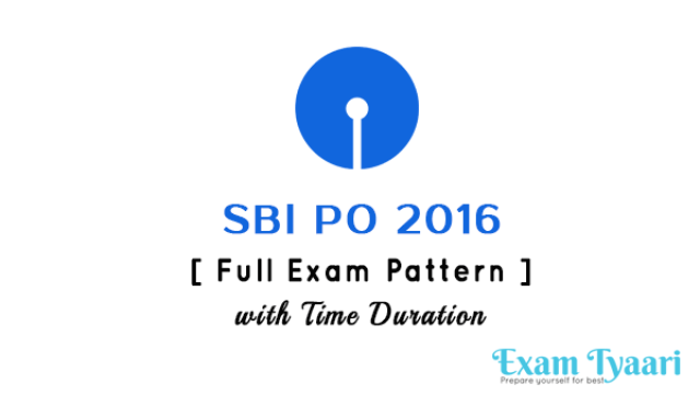 SBI PO 2016 :  New Exam Pattern Out