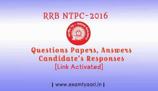 Questions-Answers & Student's Response - Objections - RRB 2016 [Link Activated] - Exam Tyaari