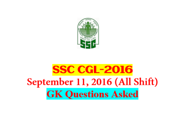 SSC CGL Tier-1 2016 : Questions Asked On 11 September - ALL Shift [PDF] - Exam Tyaari