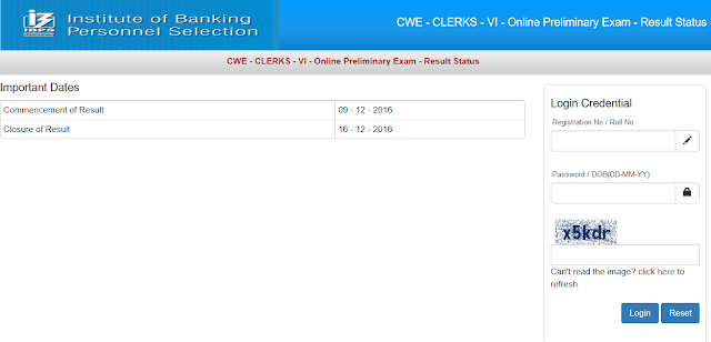 IBPS Clerk VI Prelims Result Out - Check Now