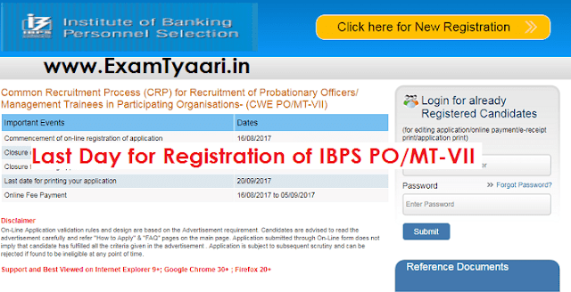 IBPS PO/MT-VII - Last Day Reminder [Apply Here] - Exam Tyaari