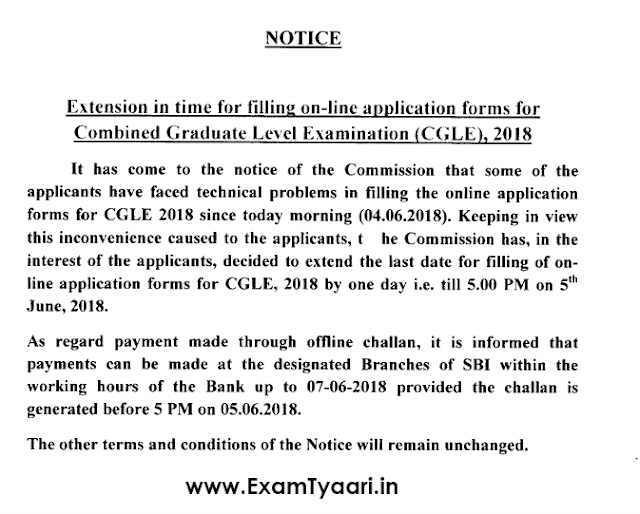 SSC CGL 2018 Last Date Extended [PDF Download] - Exam Tyaari