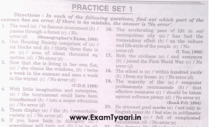 english grammar Error Spotting Questions and Answers PDF - exam tyaari
