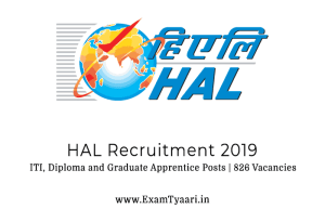 HAL RECRUITMENT 2019 PDF - Exam Tyaari