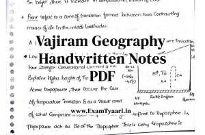Vajiram Geography Handwritten Notes PDF