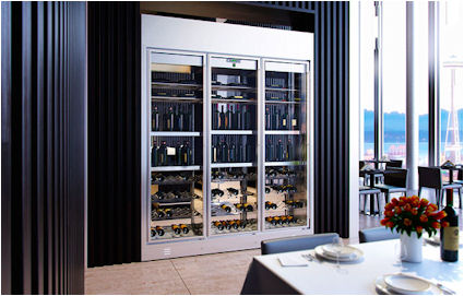 Modulaire wijnvitrine  wijnklimaatkast voor de horeca