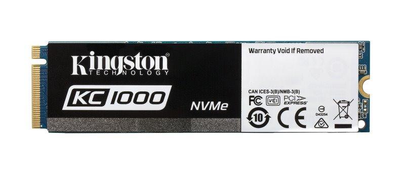 Kingston SSD 480GB KC1000 NVMe PCIe Gen3x4 M.2 2280 MLC | ExaSoft.cz