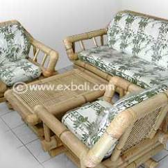 Bamboo Couch And Chairs Eames Lounge Chair Ottoman Bali Sofa Sets Furniture Export Decor Accessories