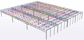 Excadia bureau d'études structure métallique scan 3D capture charpente métallique