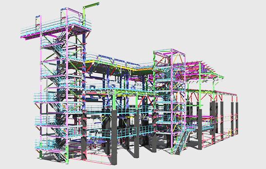 Excadia bureau d'études structure métallique projet structure neuve
