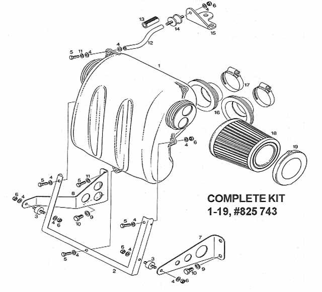 Rotax air intake silencer mounting kit for Rotax 503